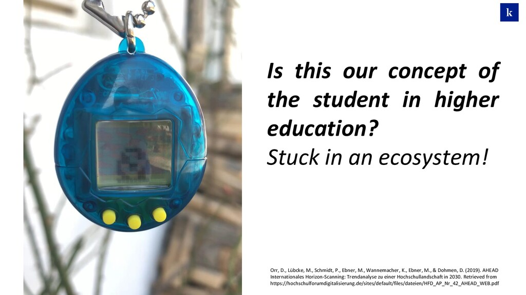 Is this our concept of the student in higher ed...