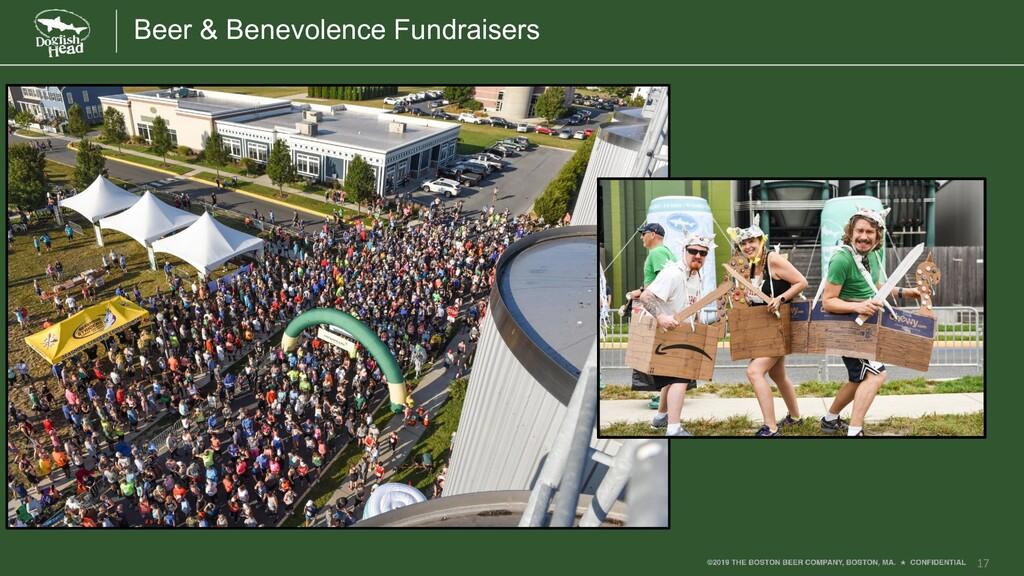 17 Beer & Benevolence Fundraisers