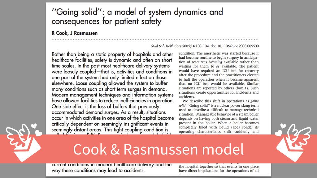 Cook & Rasmussen model