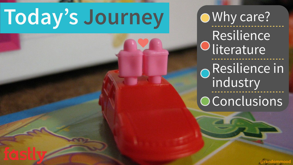 Today's Journey Why care? Resilience literature...