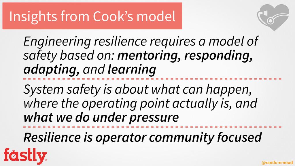 @randommood Insights from Cook's model Engineer...