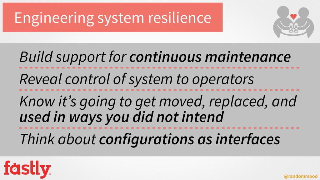 @randommood Engineering system resilience Build...
