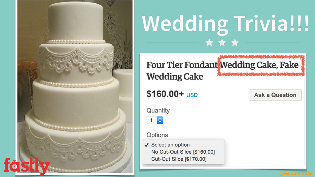 Wedding Trivia!!! @randommood