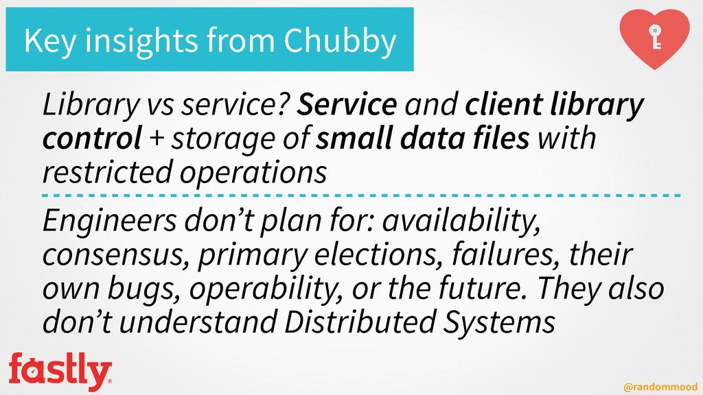 @randommood Key insights from Chubby Library vs...
