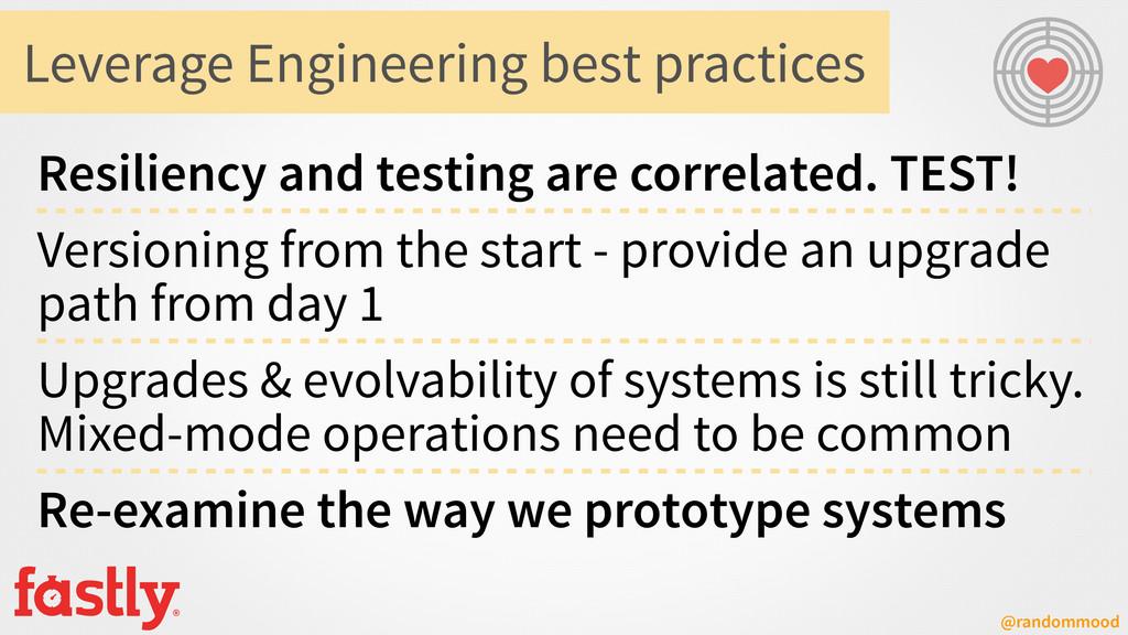 @randommood Leverage Engineering best practices...