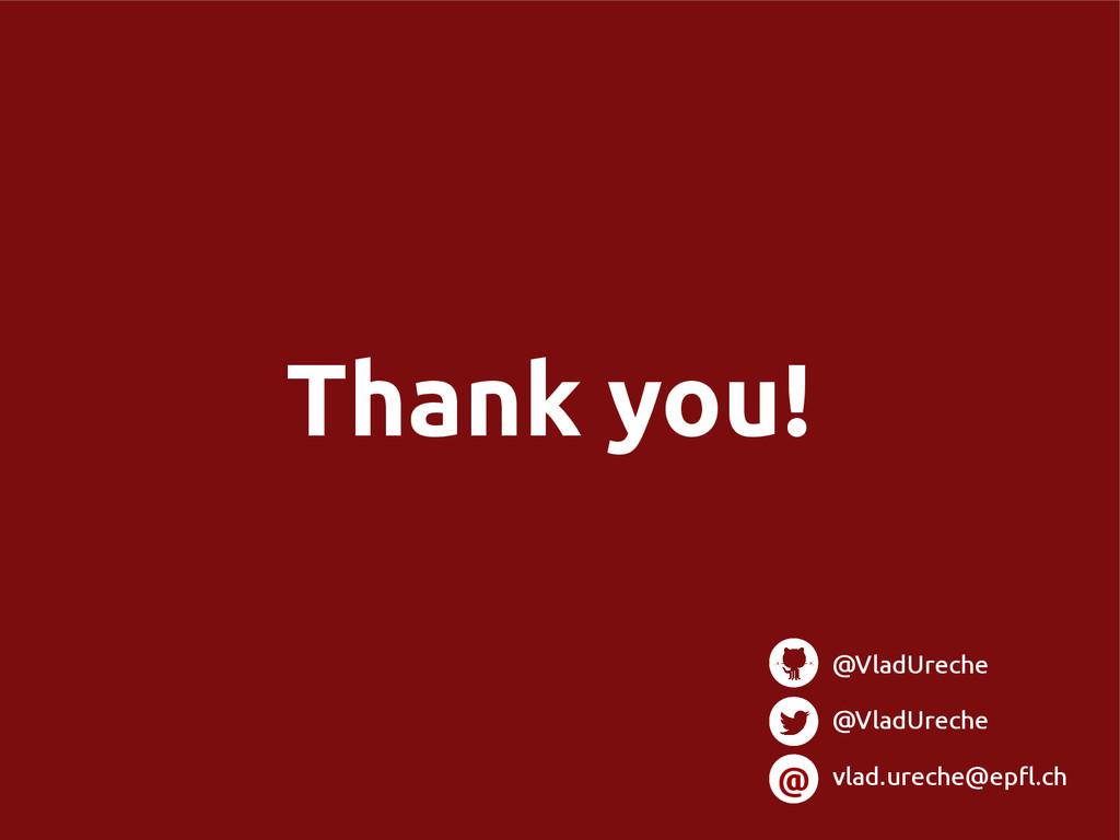 Thank you! @ @VladUreche @VladUreche vlad.urech...