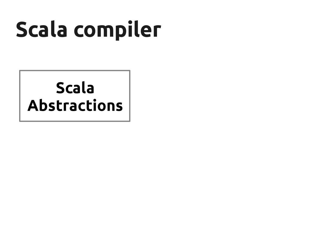 Scala compiler Scala compiler Scala Abstractions
