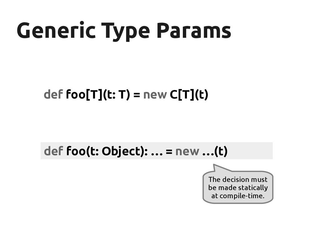 Generic Type Params Generic Type Params def foo...