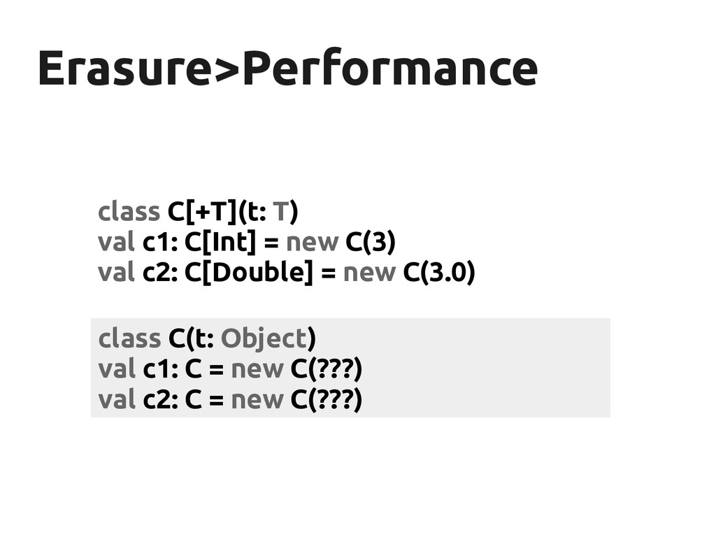 Erasure>Performance Erasure>Performance class C...