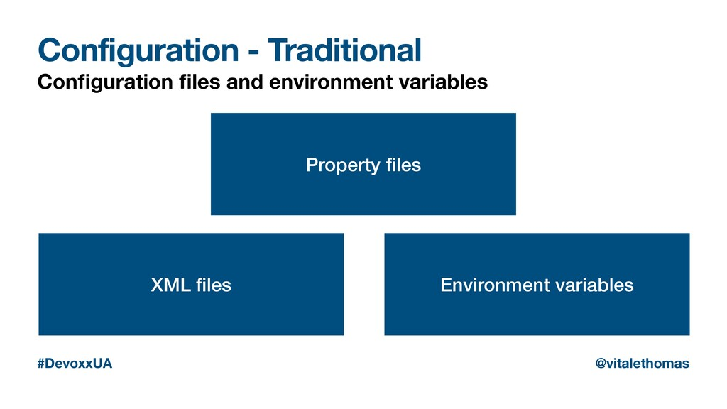 Configuration - Traditional Configuration files a...