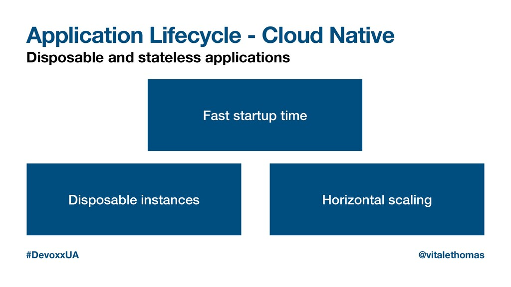 Application Lifecycle - Cloud Native Disposable...