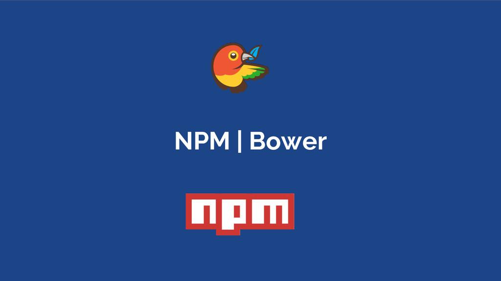 NPM | Bower