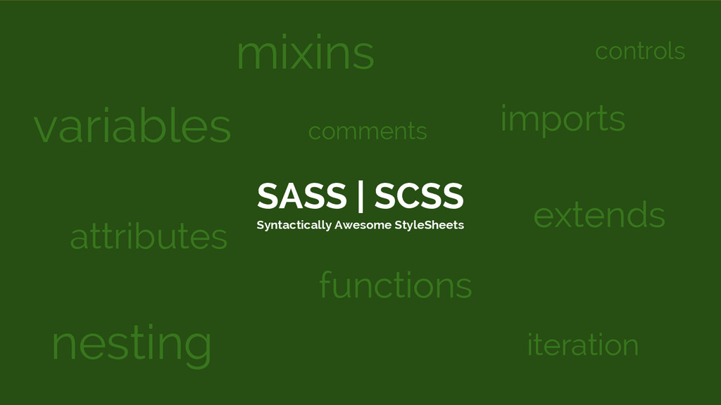 SASS | SCSS Syntactically Awesome StyleSheets v...