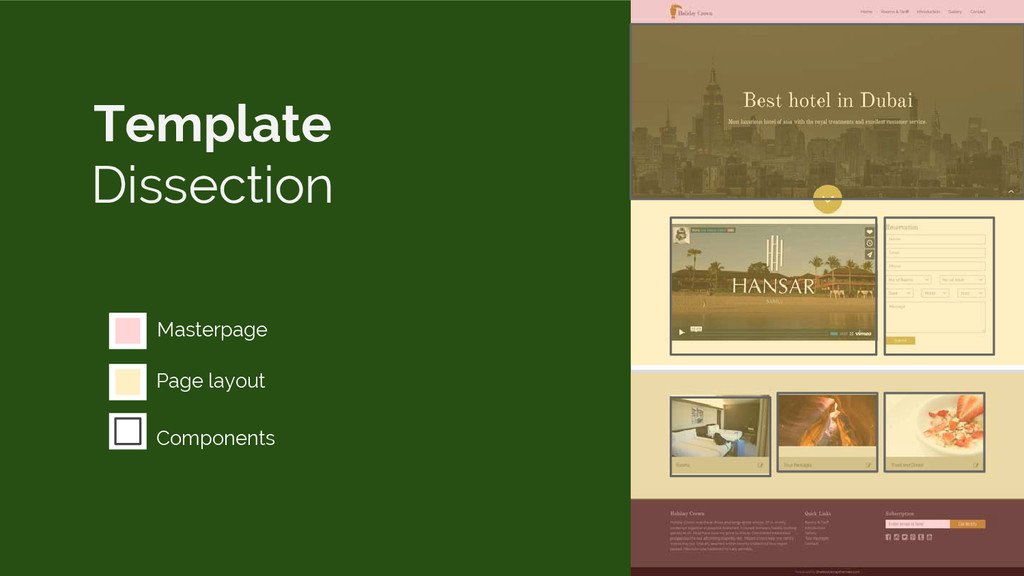 Masterpage Page layout Components Template Diss...