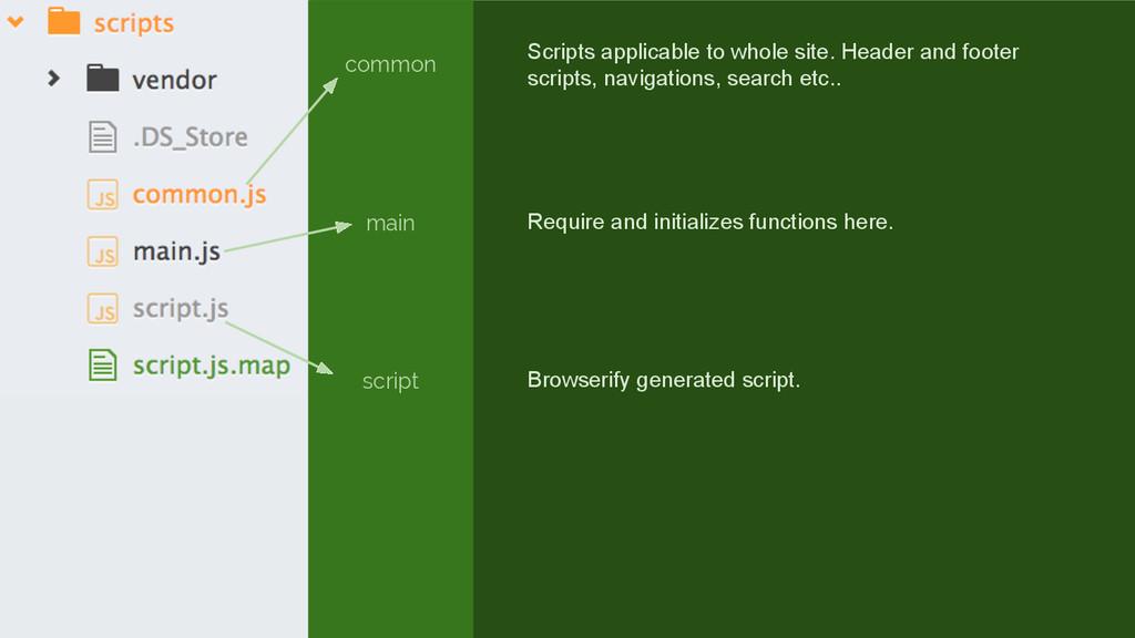 common main script Scripts applicable to whole ...