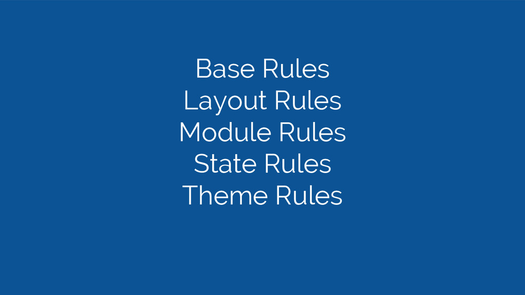 Base Rules Layout Rules Module Rules State Rule...