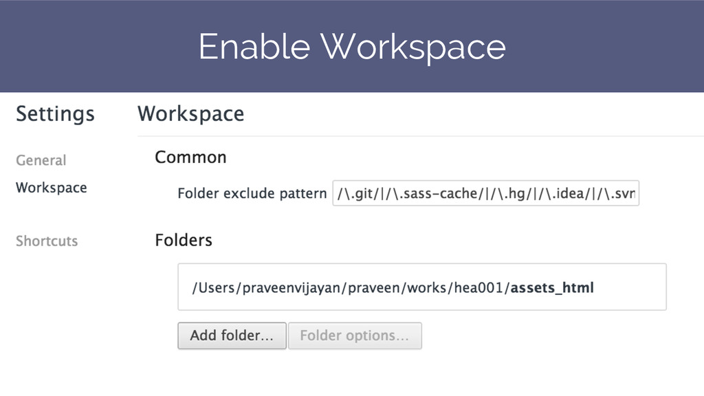 Enable Workspace