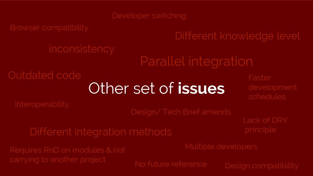 Parallel integration Design/ Tech Brief amends ...