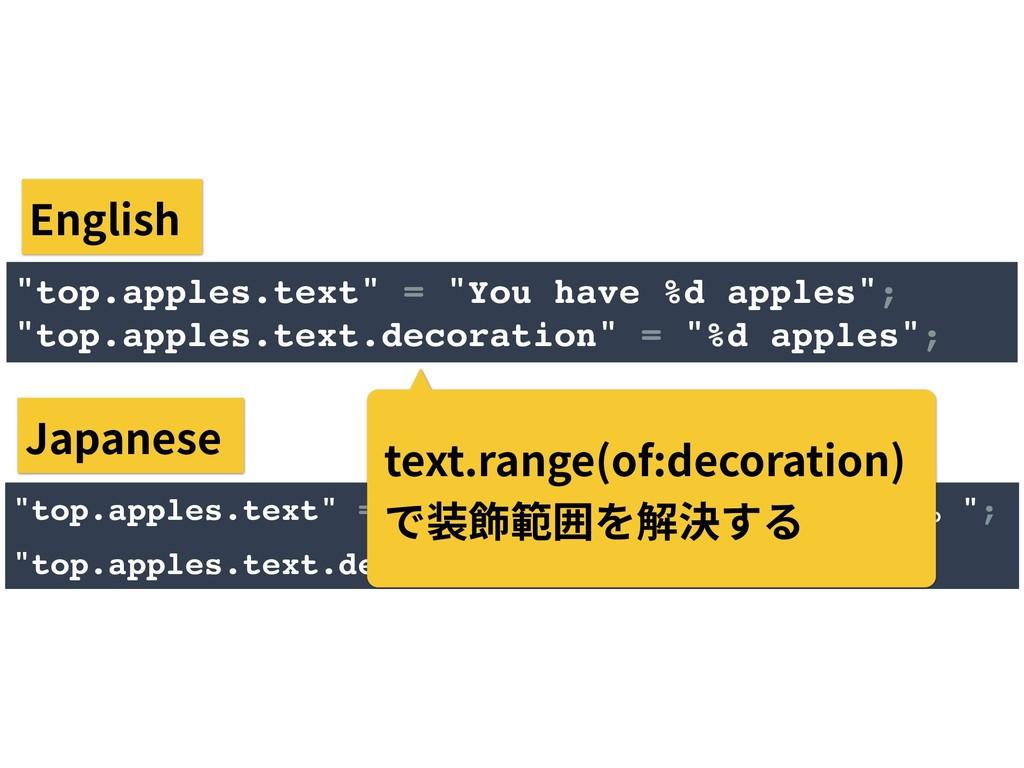 """""""top.apples.text"""" = """"͋ͳͨϦϯΰΛ%dݸ͍ͬͯ·͢ɻ""""; """"top...."""