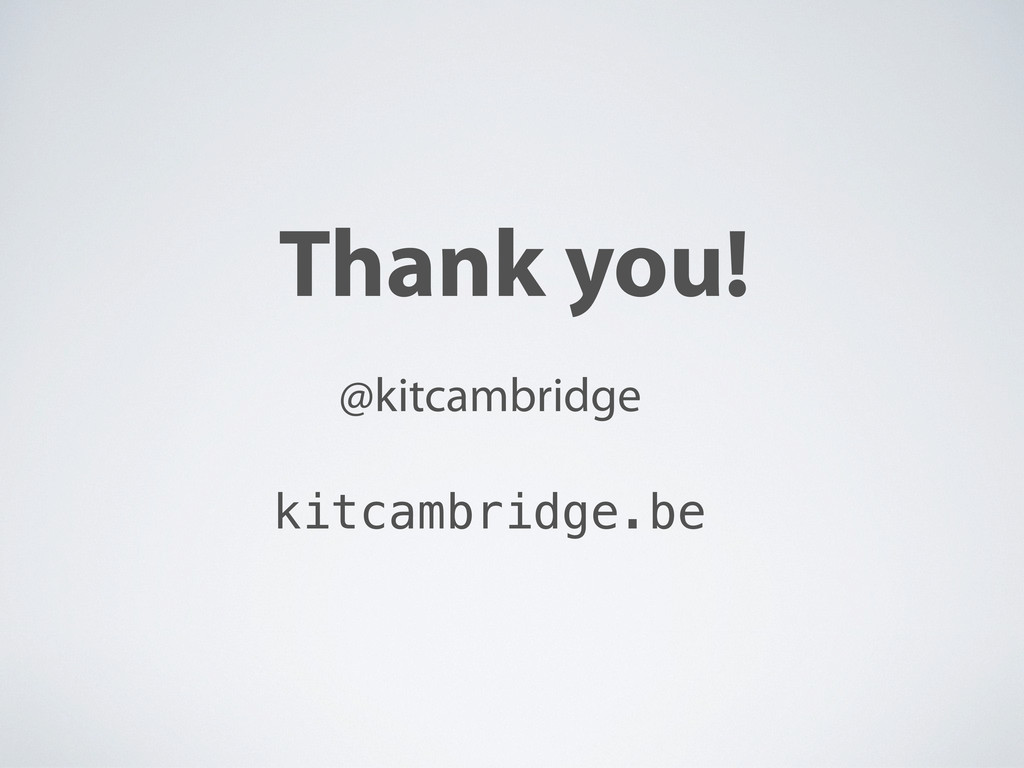 Thank you! @kitcambridge kitcambridge.be