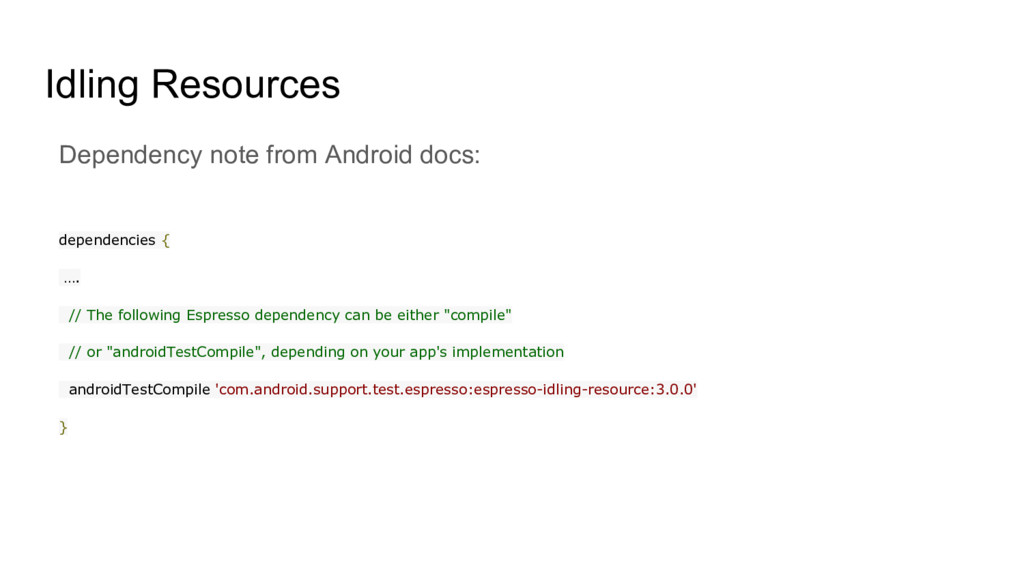 Idling Resources Dependency note from Android d...