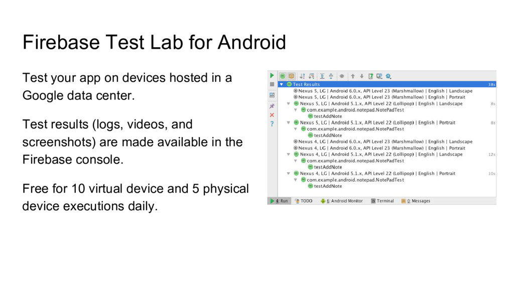 Firebase Test Lab for Android Test your app on ...