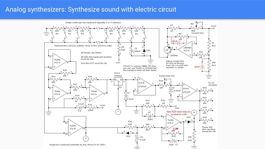 Analog synthesizers: Synthesize sound with elec...