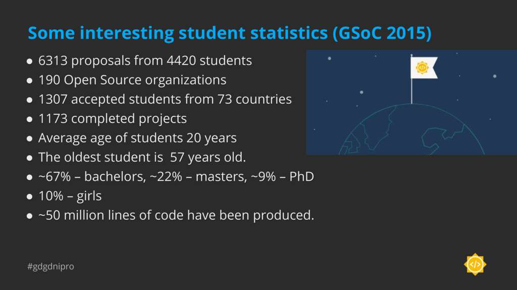 #gdgdnipro Some interesting student statistics ...