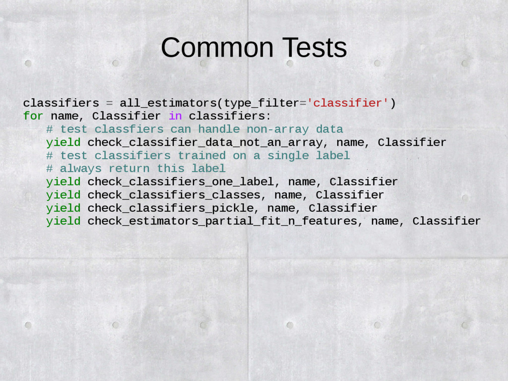Common Tests classifiers = all_estimators(type_...