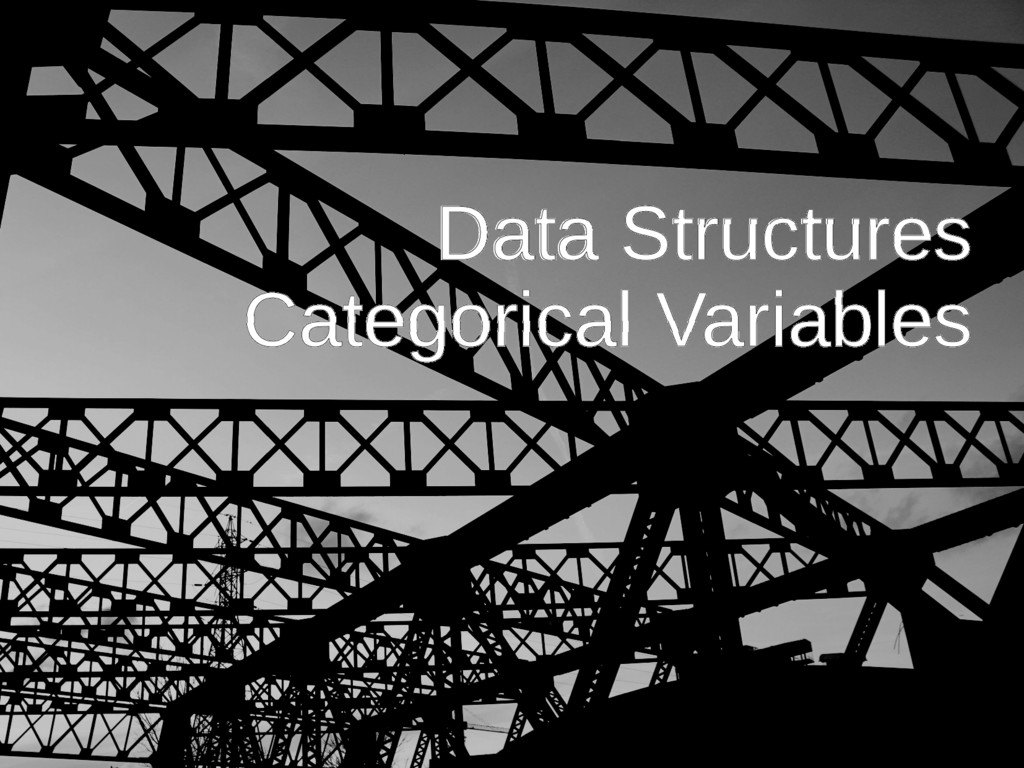 Data Structures Categorical Variables