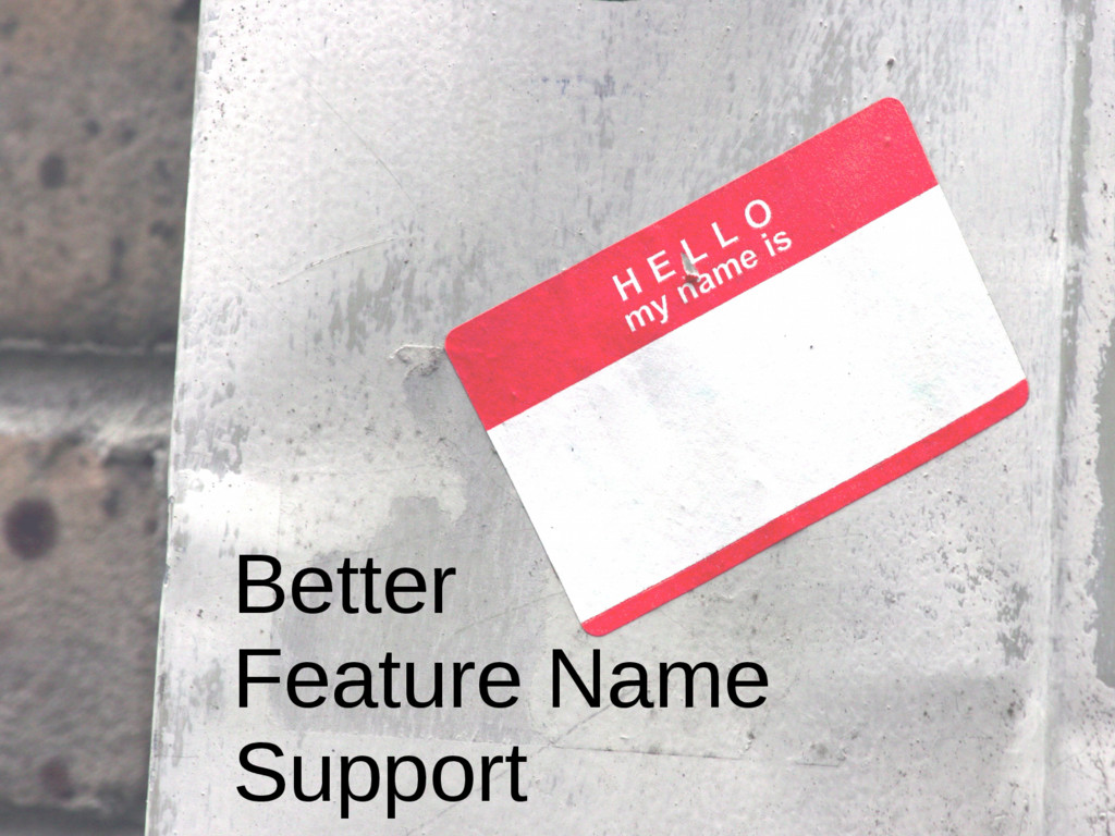Better Feature Name Support