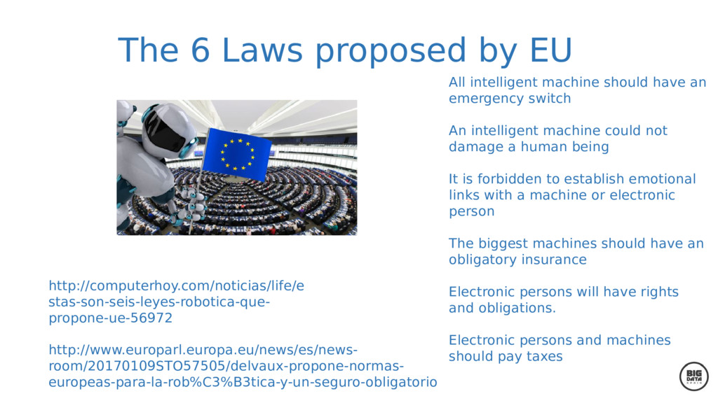 The 6 Laws proposed by EU All intelligent machi...