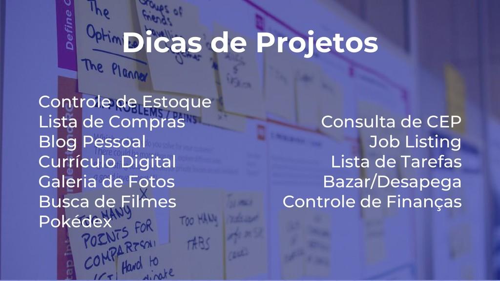 Dicas de Projetos Controle de Estoque Lista de ...