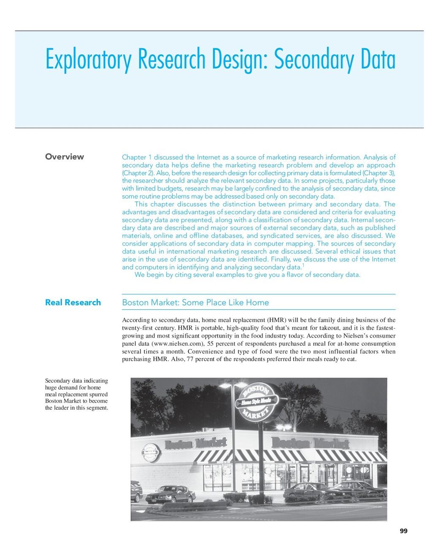 Exploratory Research Design: Secondary Data Ove...