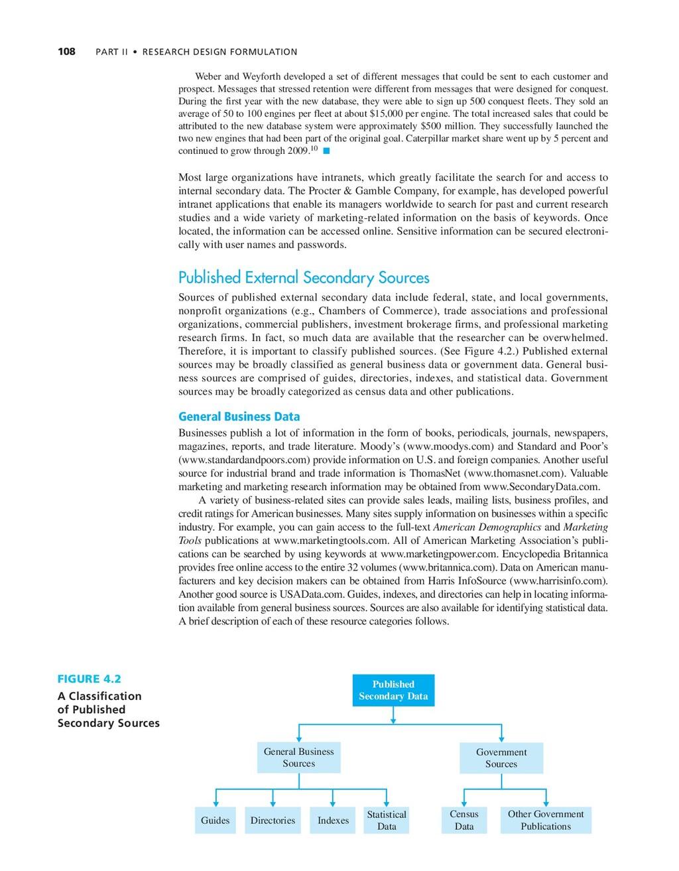 108 PART II • RESEARCH DESIGN FORMULATION Gener...
