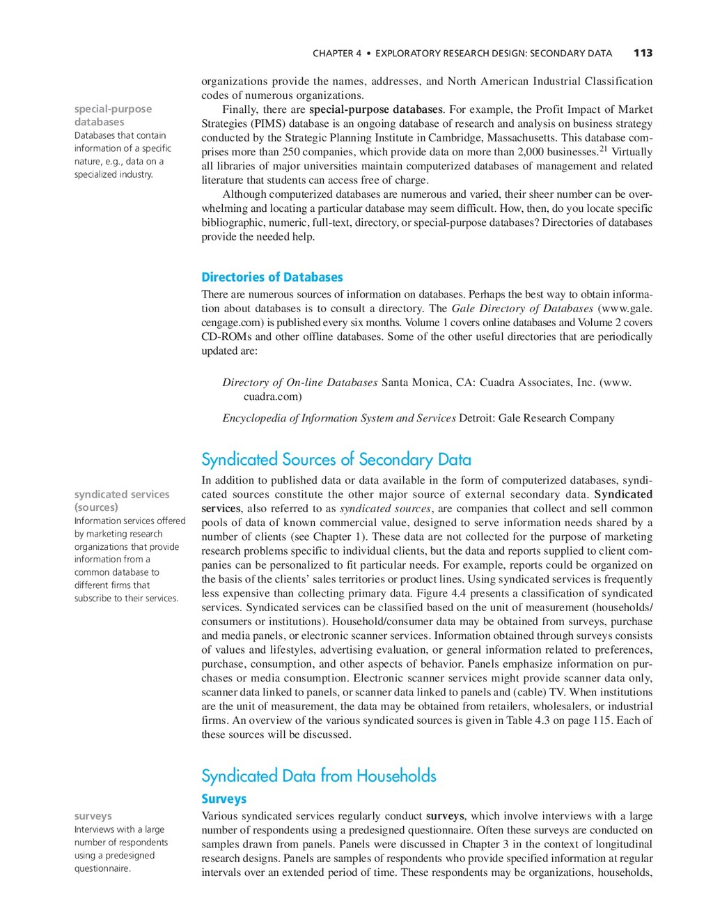 CHAPTER 4 • EXPLORATORY RESEARCH DESIGN: SECOND...