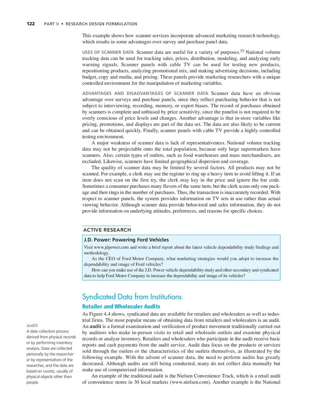 122 PART II • RESEARCH DESIGN FORMULATION audit...