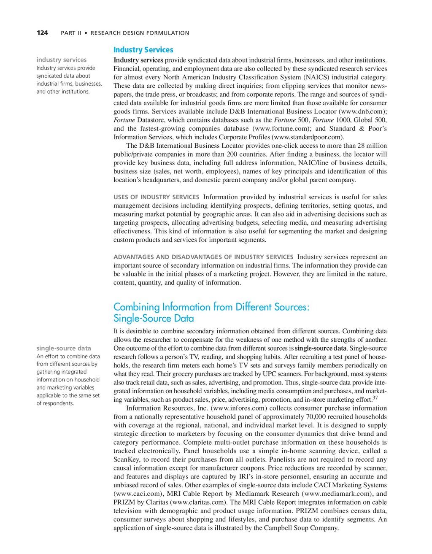 124 PART II • RESEARCH DESIGN FORMULATION indus...