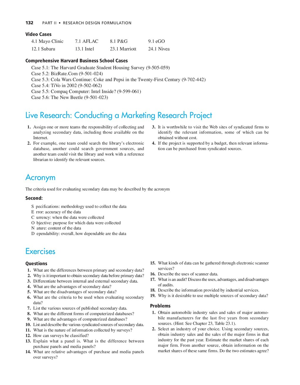 132 PART II • RESEARCH DESIGN FORMULATION Live ...