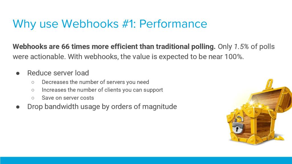 Why use Webhooks #1: Performance Webhooks are 6...