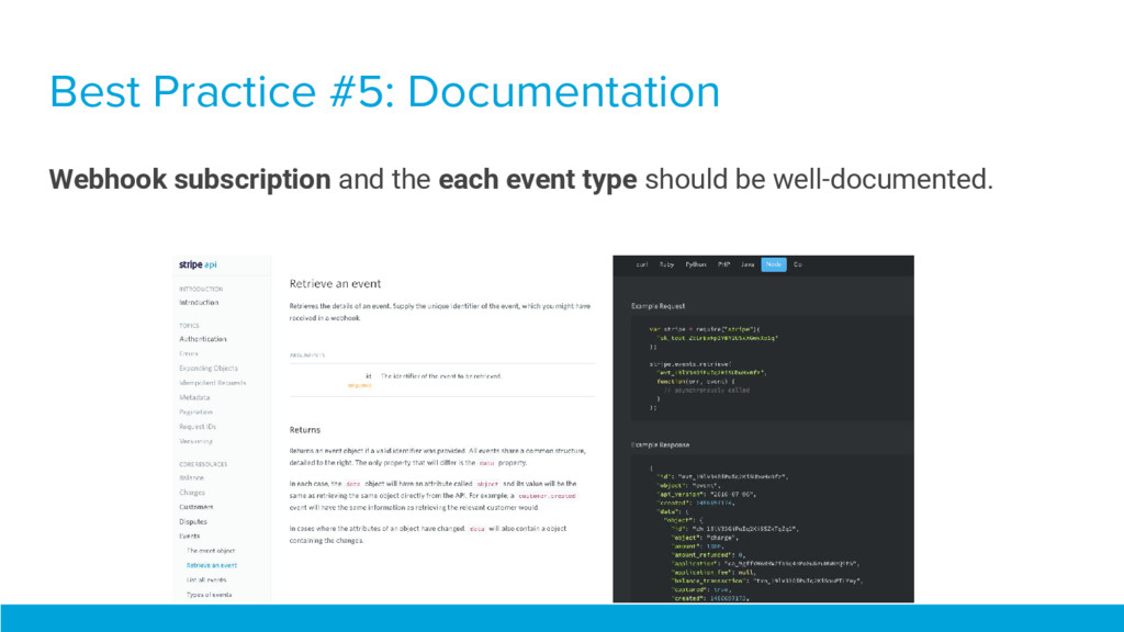 Best Practice #5: Documentation Webhook subscri...