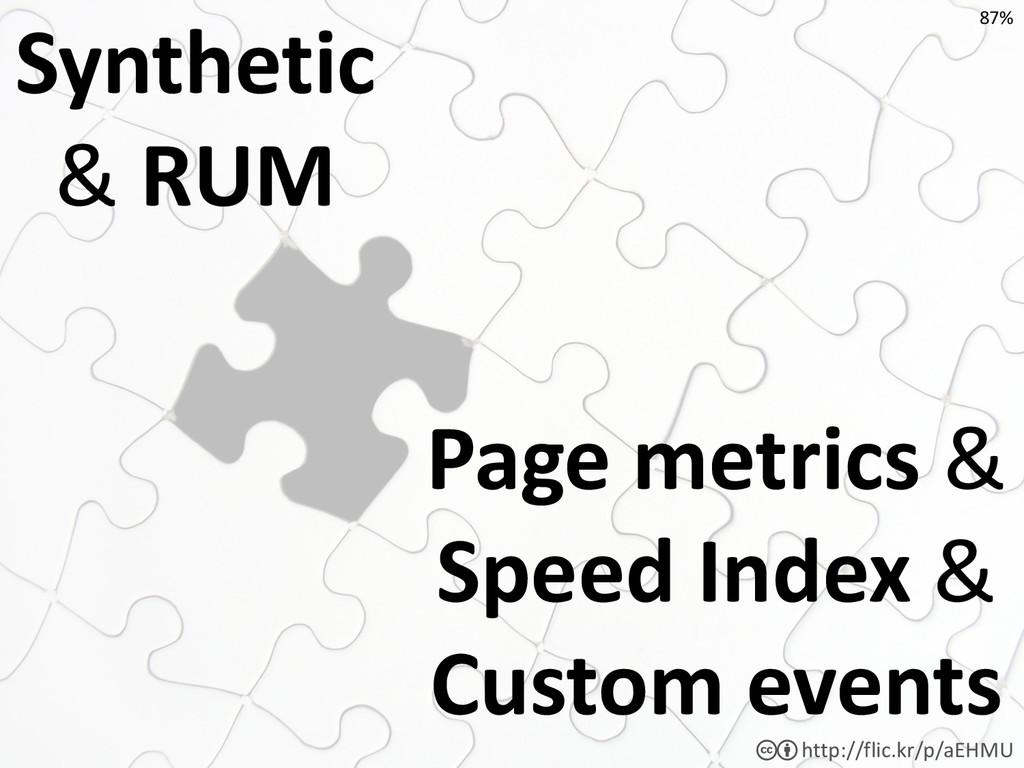 Page metrics & Speed Index & Custom events http...