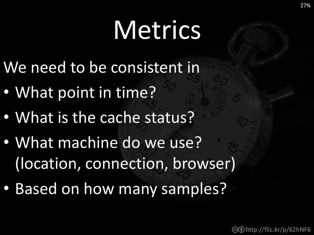 http://flic.kr/p/62hNF6 Metrics We need to be c...