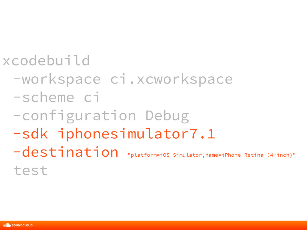 xcodebuild -workspace ci.xcworkspace -scheme ci...