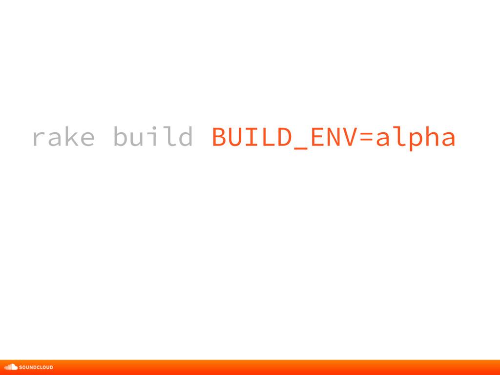 rake build BUILD_ENV=alpha rake build BUILD_ENV...