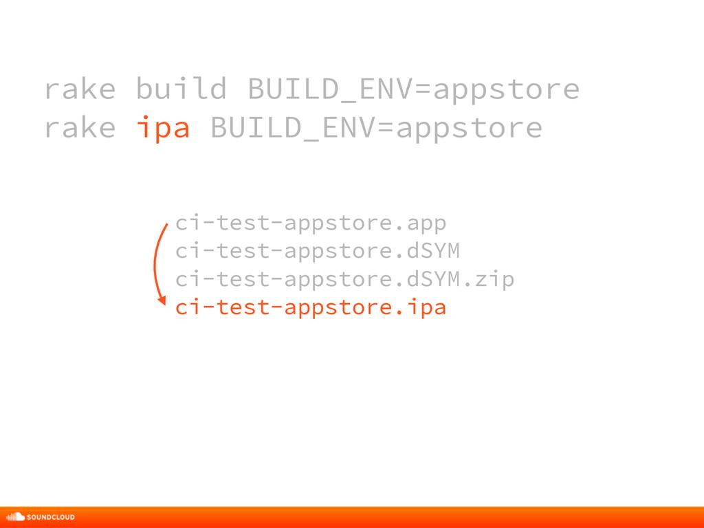 rake build BUILD_ENV=appstore rake ipa BUILD_EN...