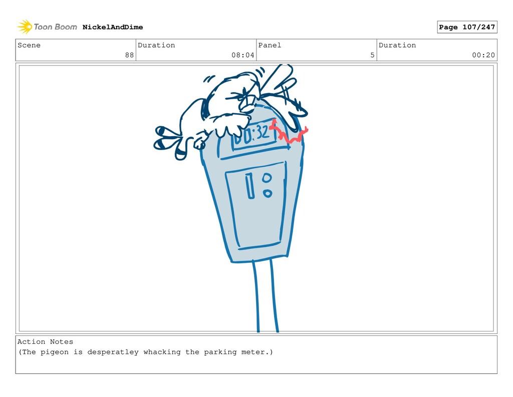 Scene 88 Duration 08:04 Panel 5 Duration 00:20 ...