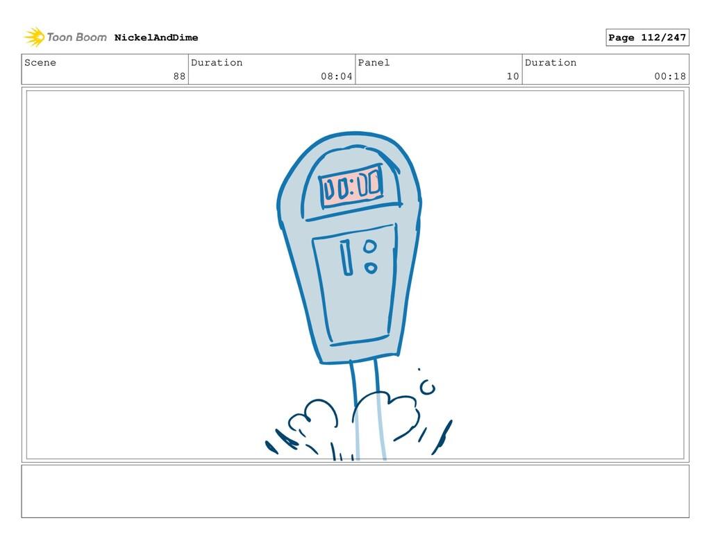 Scene 88 Duration 08:04 Panel 10 Duration 00:18...