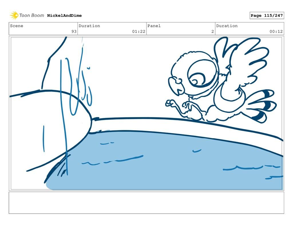 Scene 93 Duration 01:22 Panel 2 Duration 00:12 ...