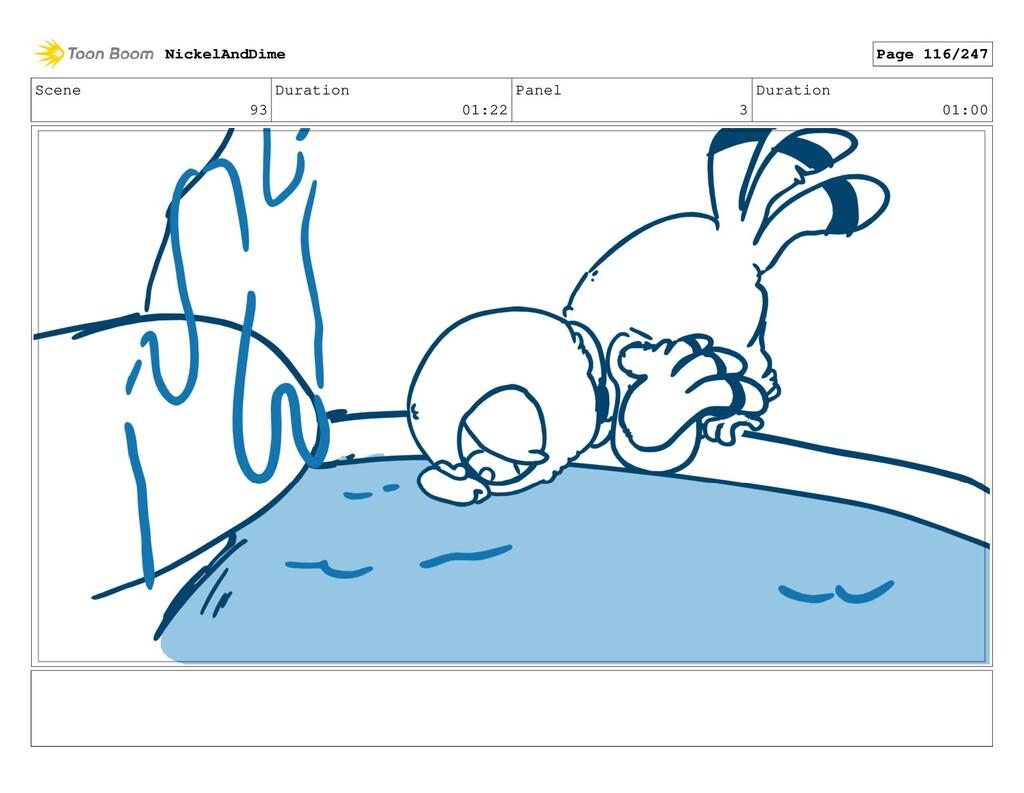 Scene 93 Duration 01:22 Panel 3 Duration 01:00 ...